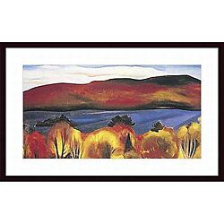 @Overstock - Artist: Georgia O'Keefe  Title: Lake George, Autumn, 1927  Product Type: Framed printhttp://www.overstock.com/Home-Garden/Georgia-OKeefe-Lake-George-Autumn-1927-Wood-Framed-Art-Print/4236708/product.html?CID=214117 $234.99