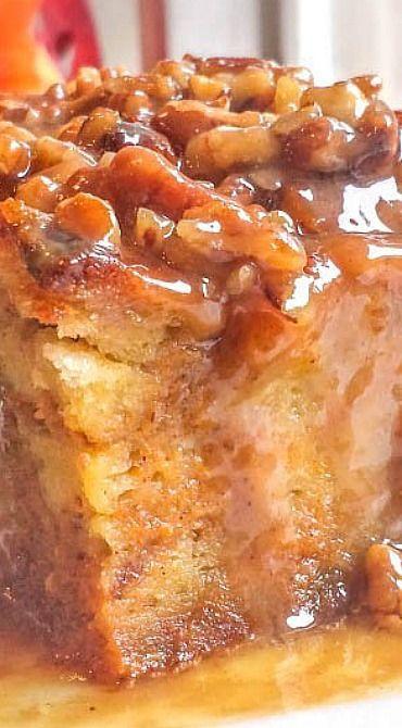 Pumpkin Praline Bread Pudding - Flavor Mosaic