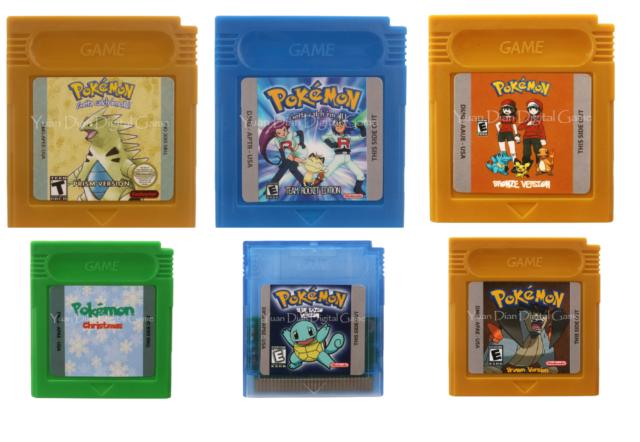 Pokemon Nintendo Game Boy GBC Game Rom Hack Prism, Brown