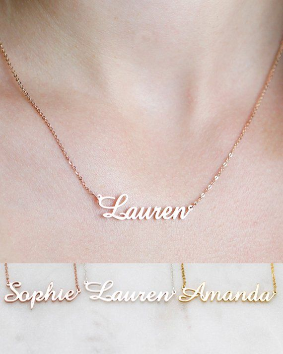 Personalized Name Necklace Customized Your Name Jewelry Etsy Bar Necklace Diamond Bar Necklace Dainty Diamond Necklace