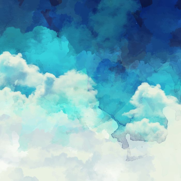 Absract Watercolor Clouds Art Print By Kristiana Art Prints
