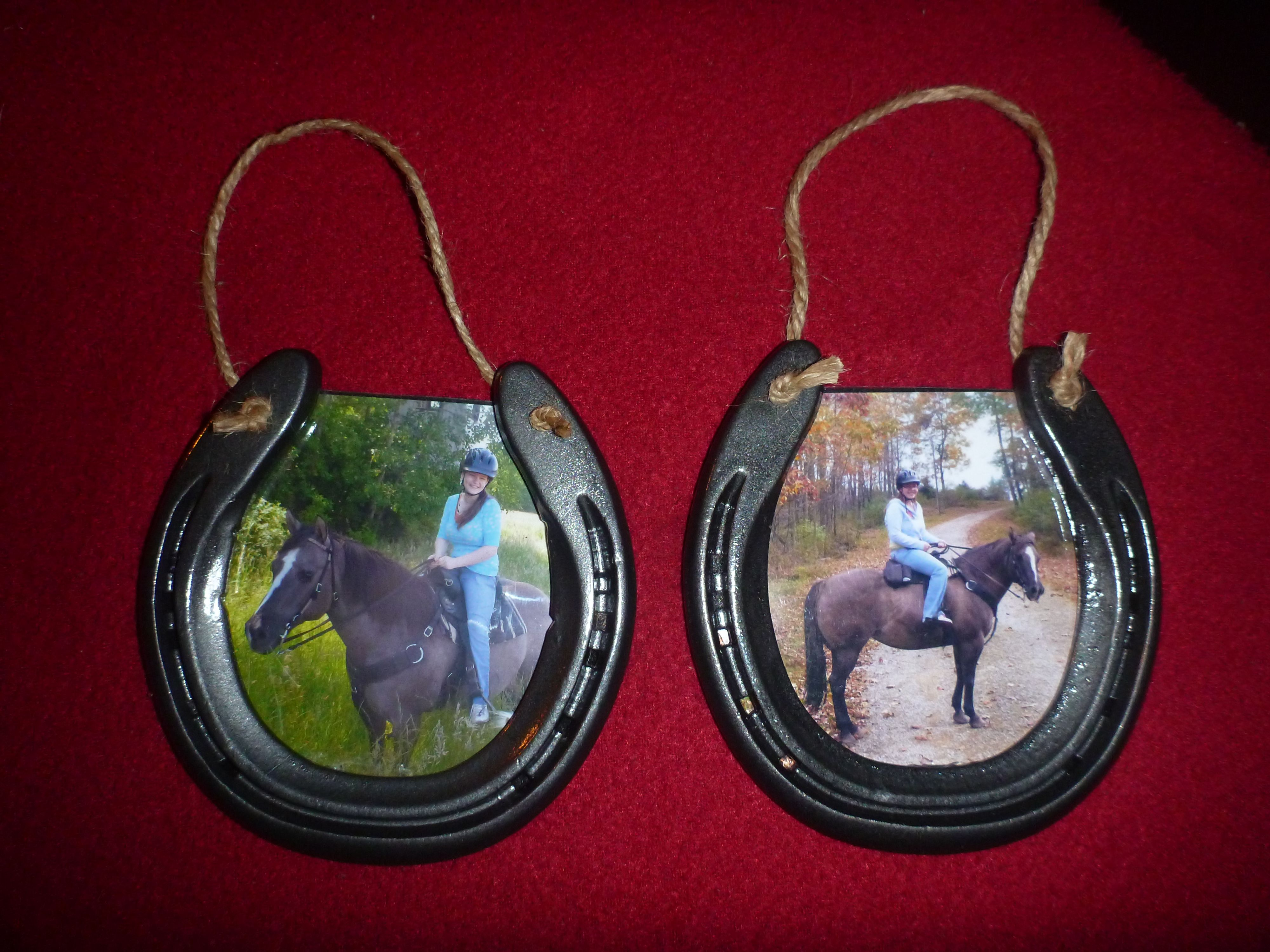 Horseshoe picture frames | Crafts | Pinterest | Horse shoes ...
