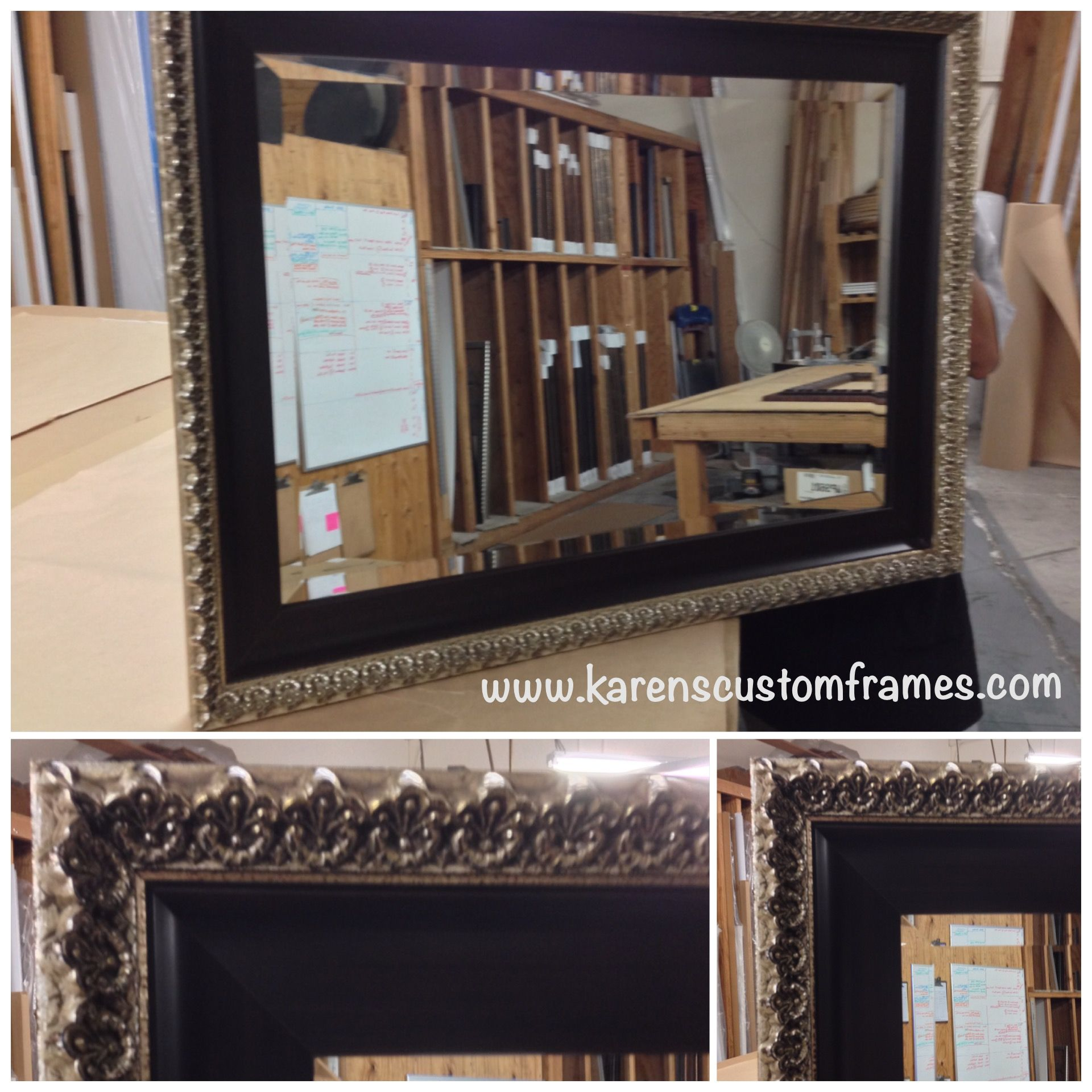 Custom Mirror - Custom design and picture framing by Karen\'s Detail ...