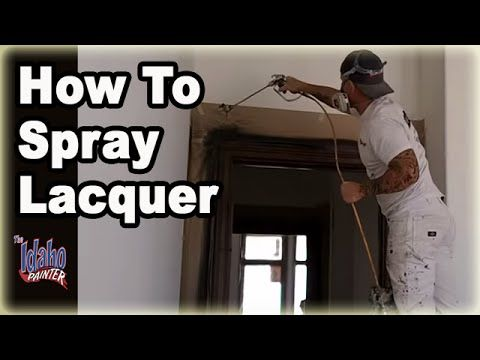 How To Spray Clear Lacquer Spraying Lacquer On A Hand Rail Tips Using Lacquer Clear Coats Lacque Buy Interior Doors Wood Doors Interior Glass Doors Interior