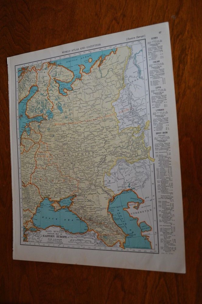 North America Map Seattle%0A      Map of Eastern Europe  Map of Asia On Reverse