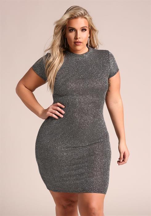$34.95---3Plus Size Sparkle Bodycon Dress | Steph ...