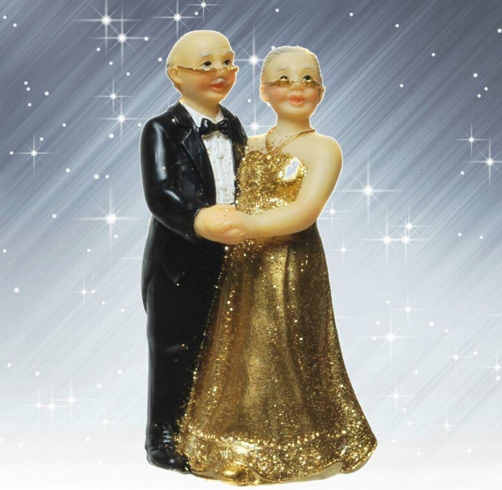 Tortenfigur Goldene Hochzeit Goldhochzeit 50 Jahre Deko Figur Iv Geldgeschenk Novios Papa