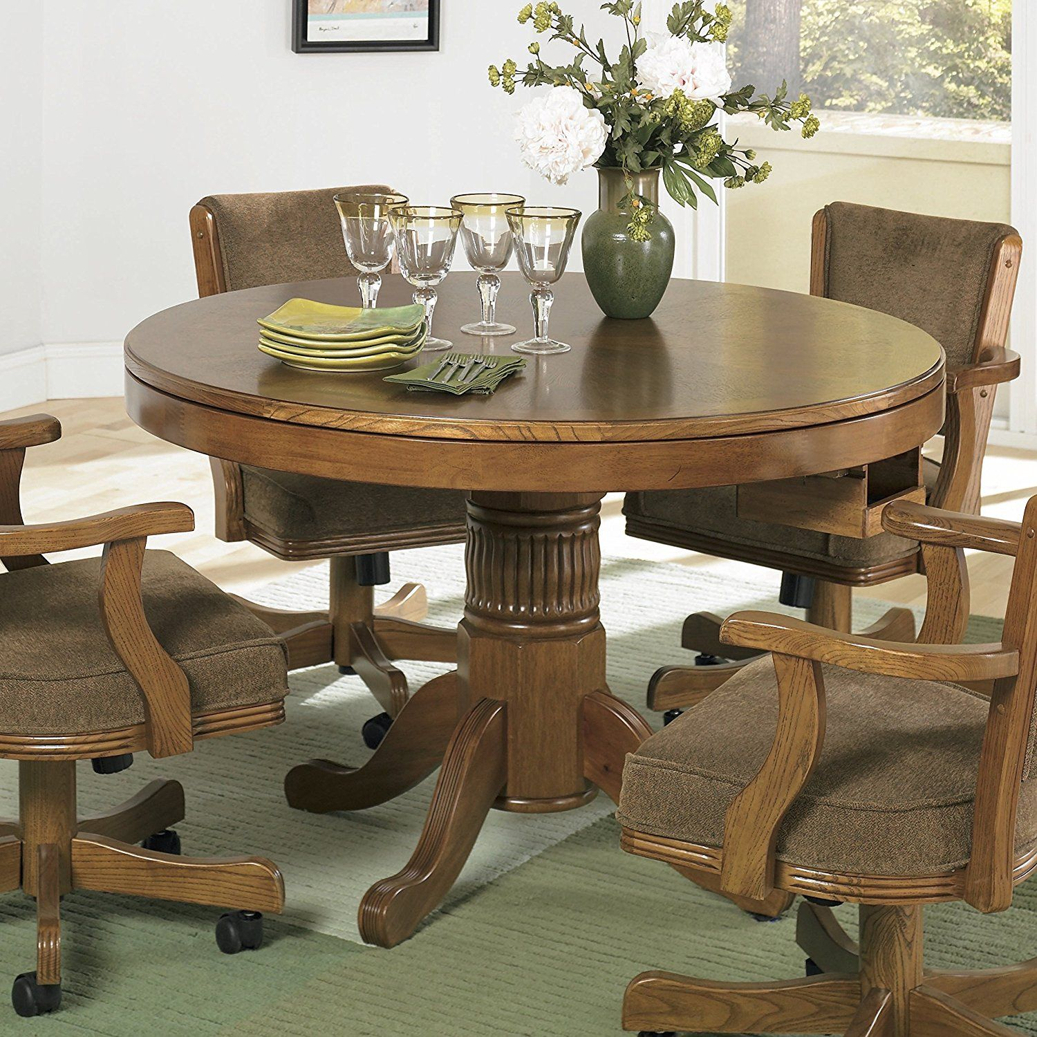 game table chairs with casters fice Pinterest