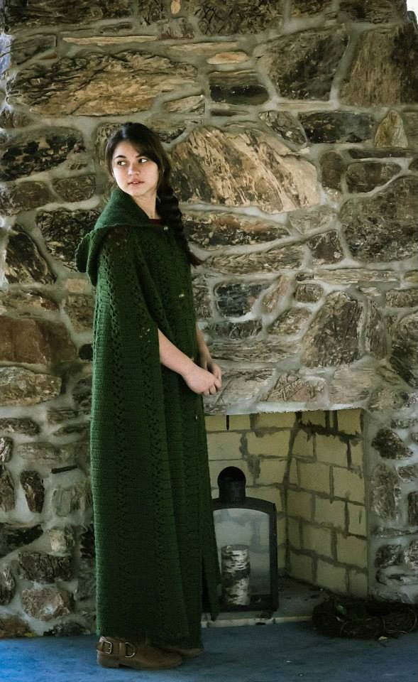Long Hooded Cape PB137 pattern by Maggie Weldon | Ravelry, Patterns ...