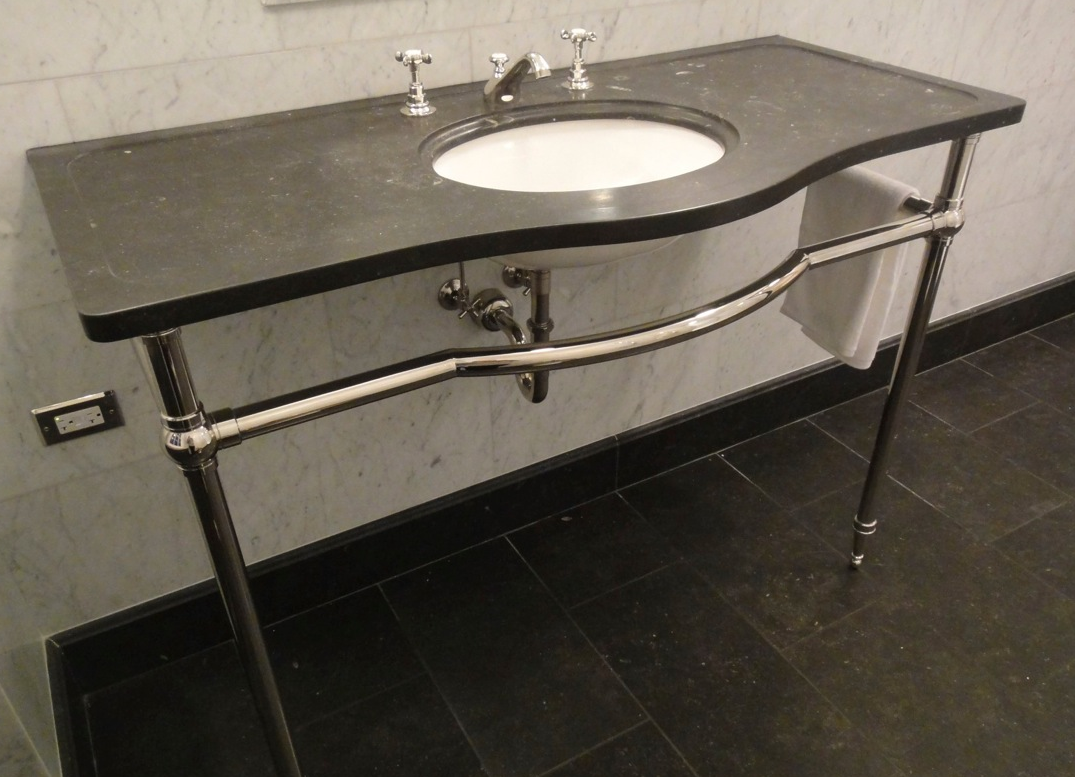 Two Leg Tapered Foot Model With Custom Curved Towel Bar Shown In