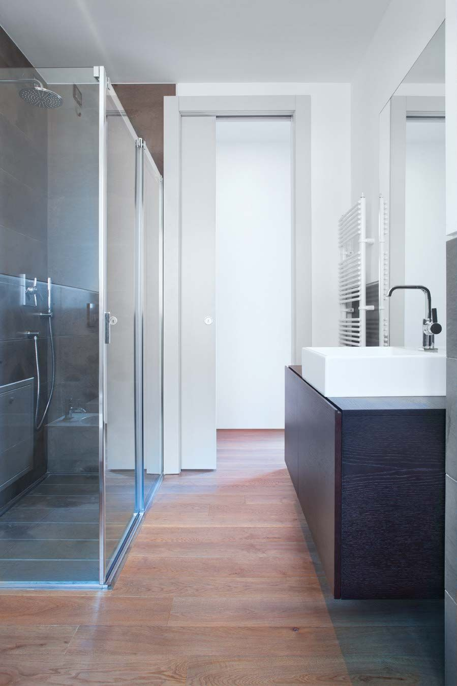 a pocket door can be a clever solution when you have a
