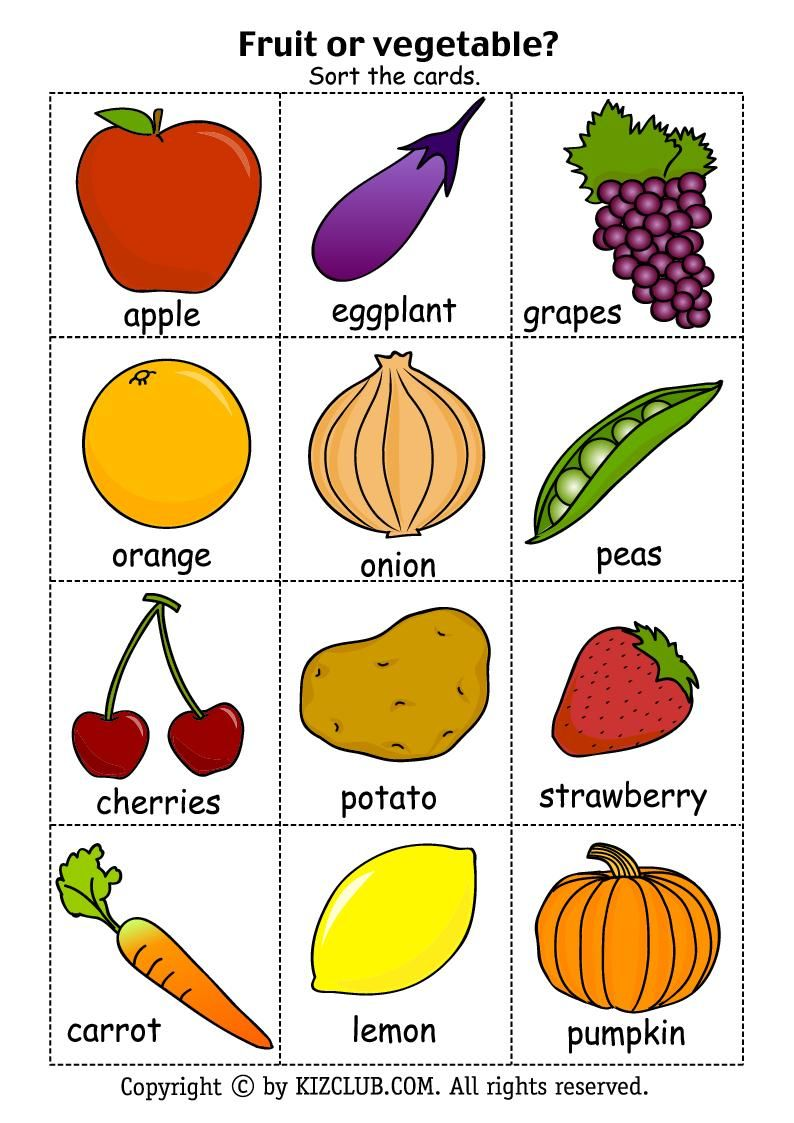 Free+Printable+Fruits+and+Vegetables | Fruit picture ...