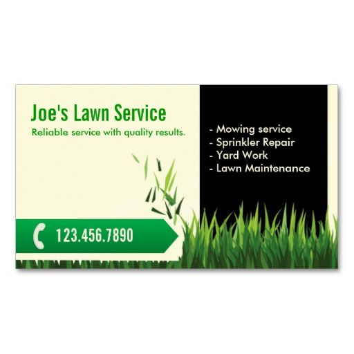 Lawn care landscaping professional mowing business card for Landscaping business