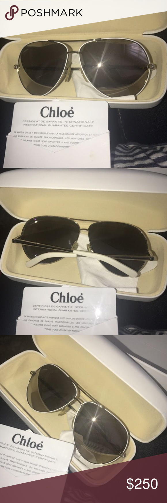 4be5da2acbbb AUTHENTIC CHLOE SUNGLASSES WITH CASE Used twice minimal sign of use Chloe  Accessories Glasses