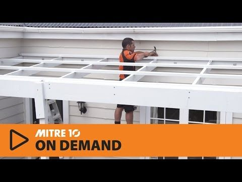 How to Build a Pergola attached to your House | Mitre 10