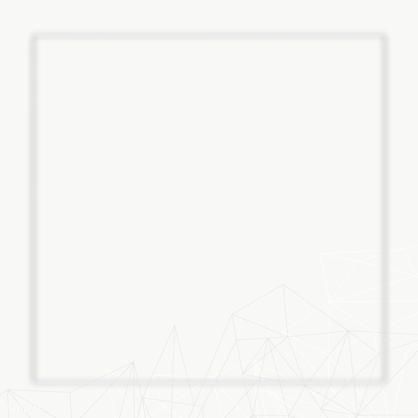 Download Premium Png Of Gray Frame With Polygon Pattern Transparent Png Polygon Pattern Polygon Design Frame