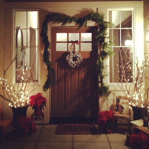 Front porch decor | Christmas ideas