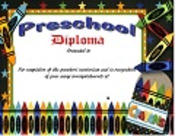 Preschool Diploma Which Is Fully Editable With Your School