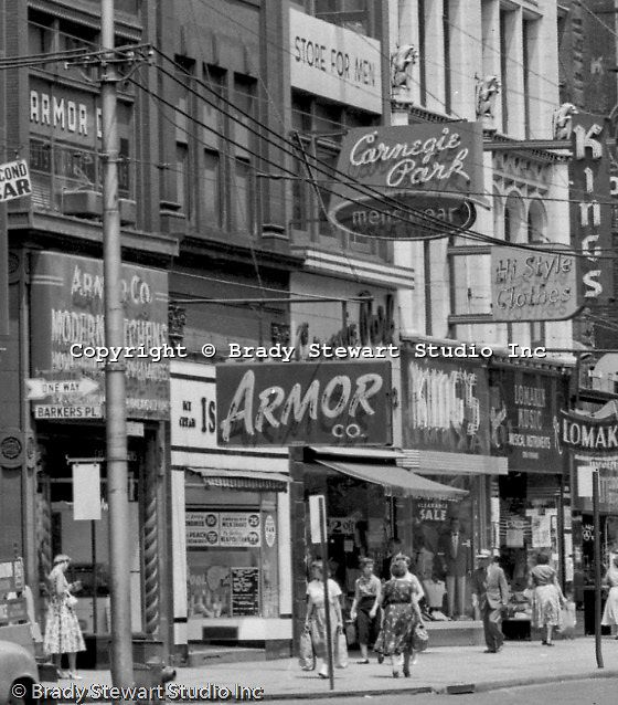 Pittsburgh PA: View East On Liberty Avenue Toward