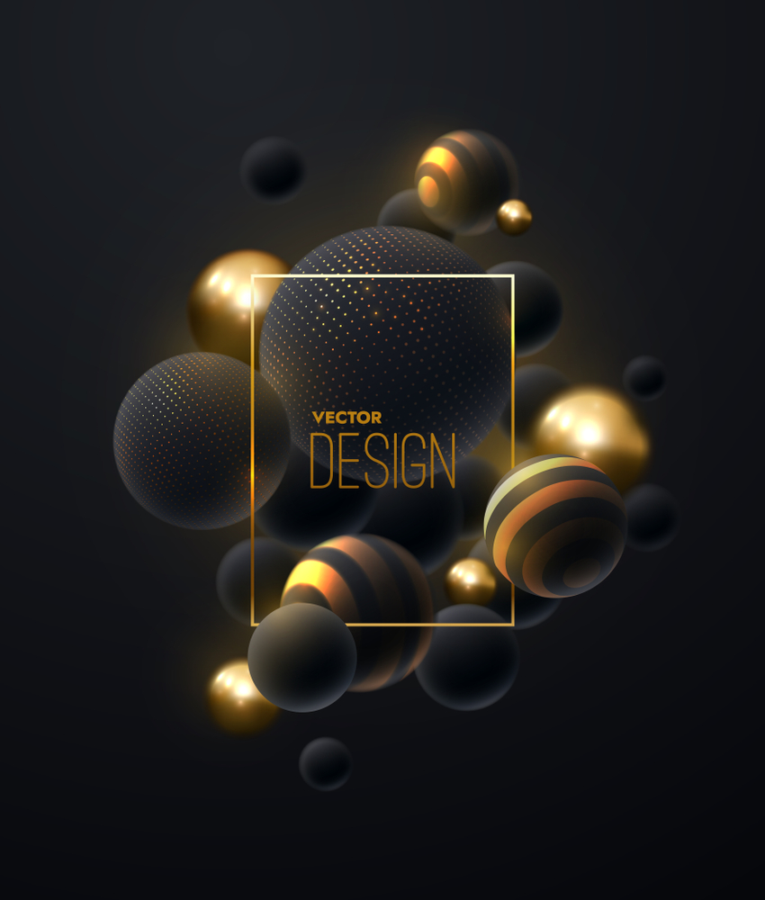 Abstract Background 3d Spheres Cluster Golden Spheres Abstract Abstract Backgrounds