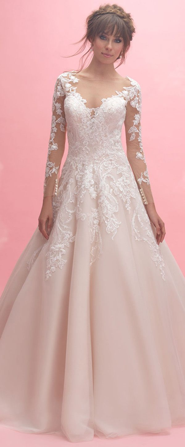 NEW! Fabulous Tulle Bateau Neckline A-line Wedding Dress With Lace ...