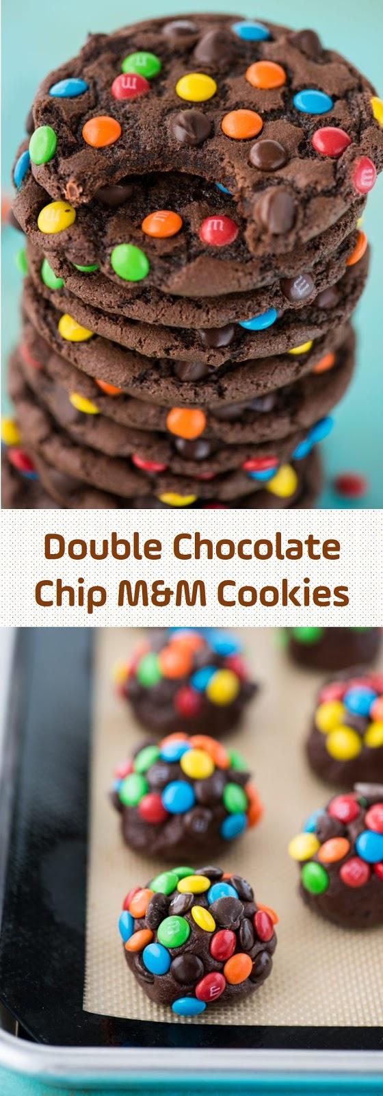 Photo of Doble Chocolate Chip M&M Cookies #chocolatechip #mandm