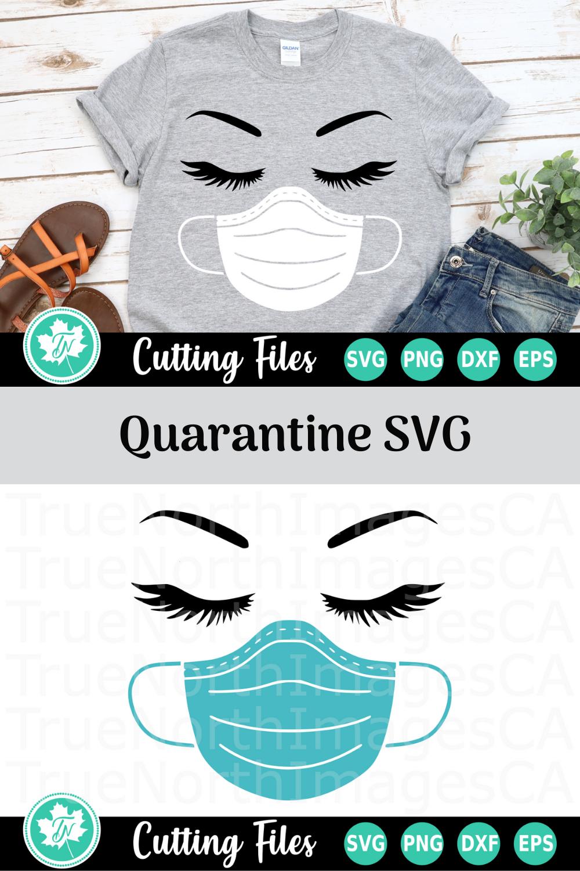 Mask and Lashes - A Quarantine SVG Cut File