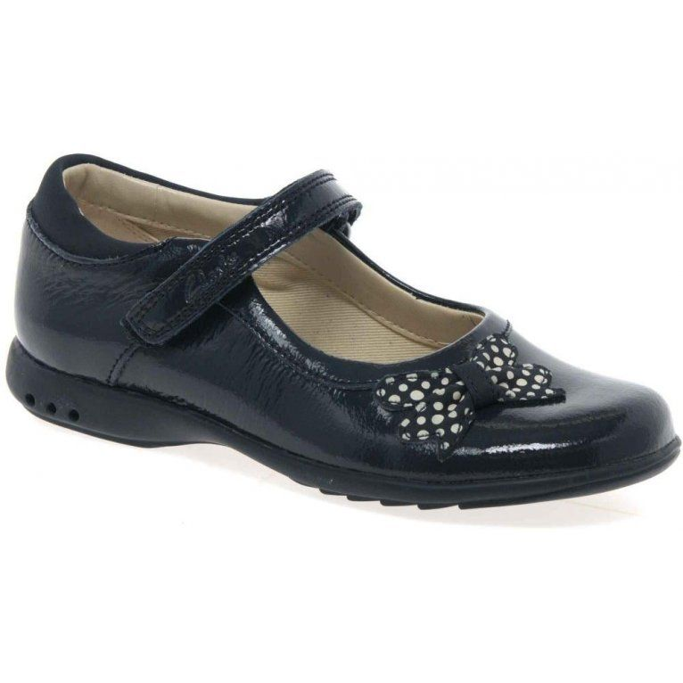 Trixi Dazzle Girls Bow Trim Shoes
