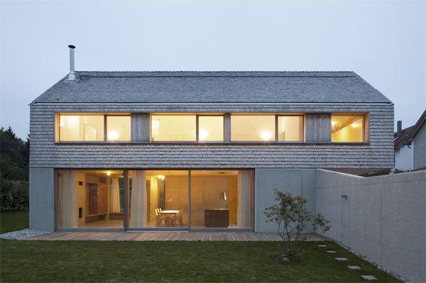 Moderne fassaden einfamilienhäuser satteldach  Einfamilienhaus in Ebersberg / Bathke Geisel Architekten BDA ...