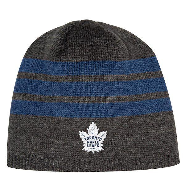7b104905a7ce4 Men s Toronto Maple Leafs adidas Gray Three Stripe Knit Beanie