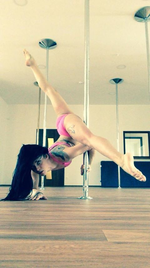 Elbow Stand On Pole Pole Dancing Fitness Pole Fitness Inspiration Pole Dancing