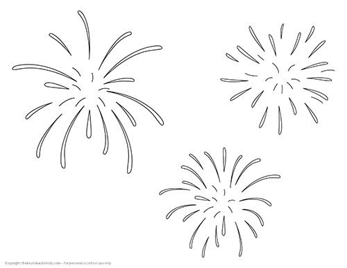 fireworks template salt painted fireworks folders pinterest