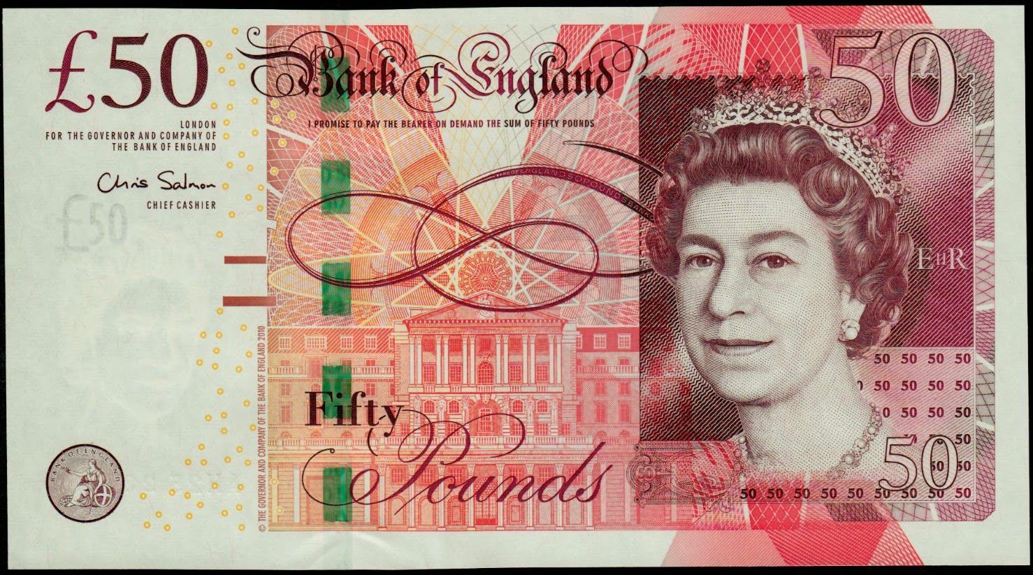 English 50 Note Money Notes Pound Sterling Pound Money