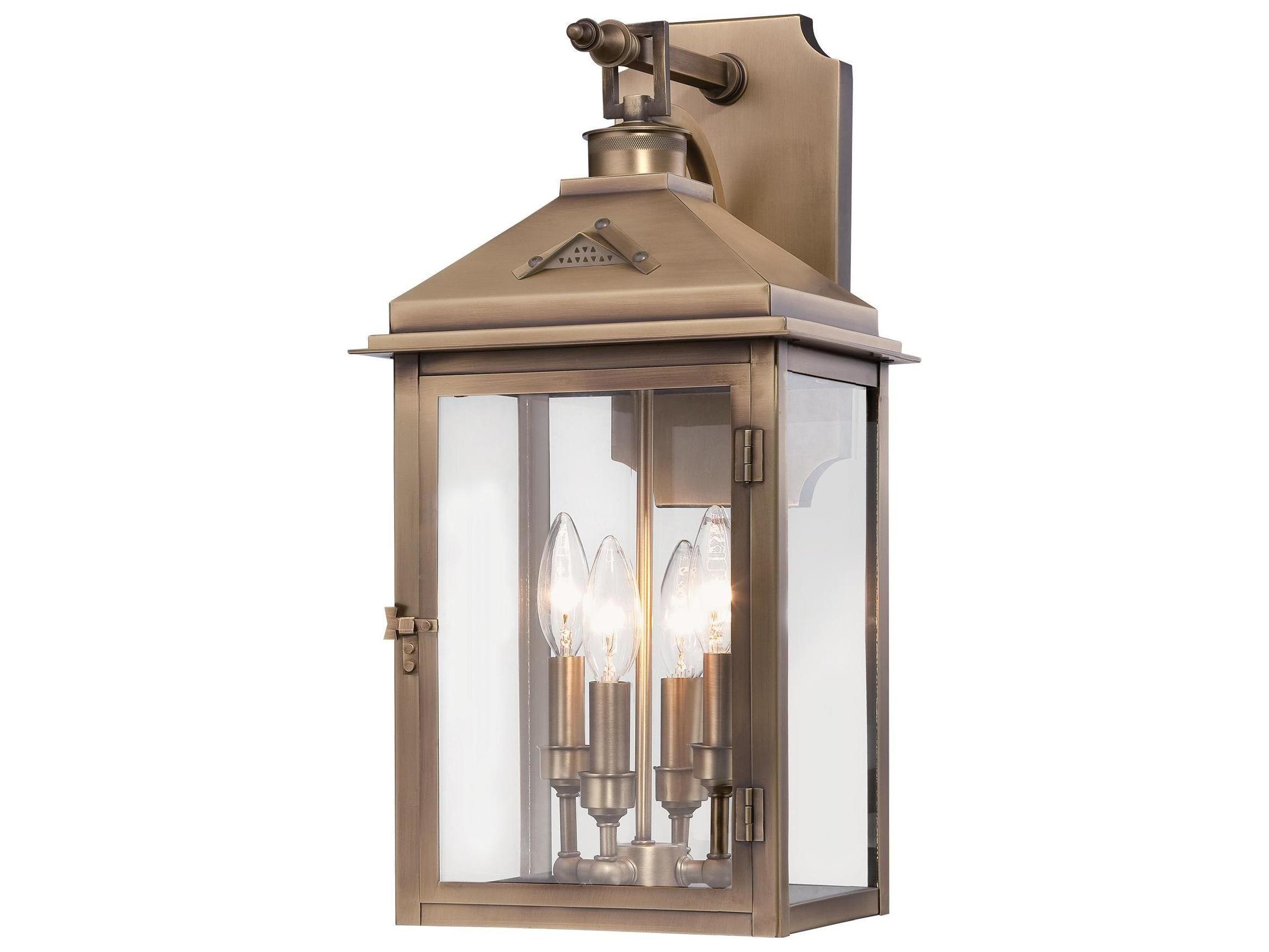 minka lavery eastbury colonial brass four light outdoor wall light