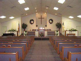 Sanctuary decor faith baptist church cartersville - Interior holiday decorating services ...