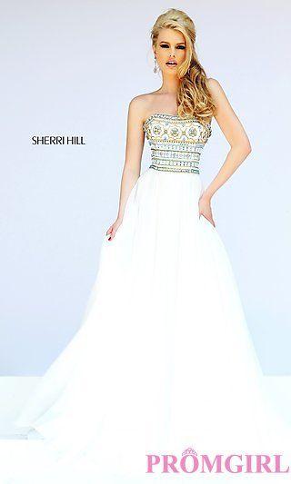 Strapless Sherri Hill Long Prom Dress at PromGirl.com | my style ...