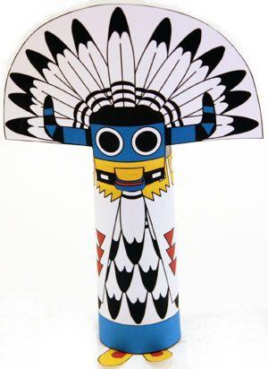 Kachina Doll Craft Native American Crafts Toilet Paper Crafts