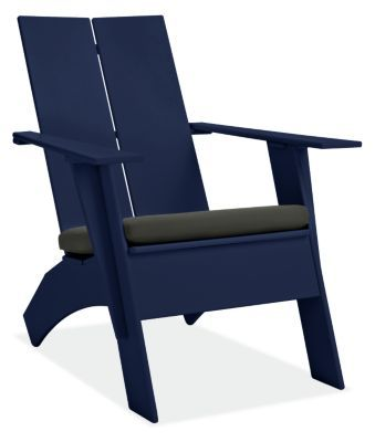 Emmet Tall Outdoor Lounge Chair With Cushion Modern Outdoor