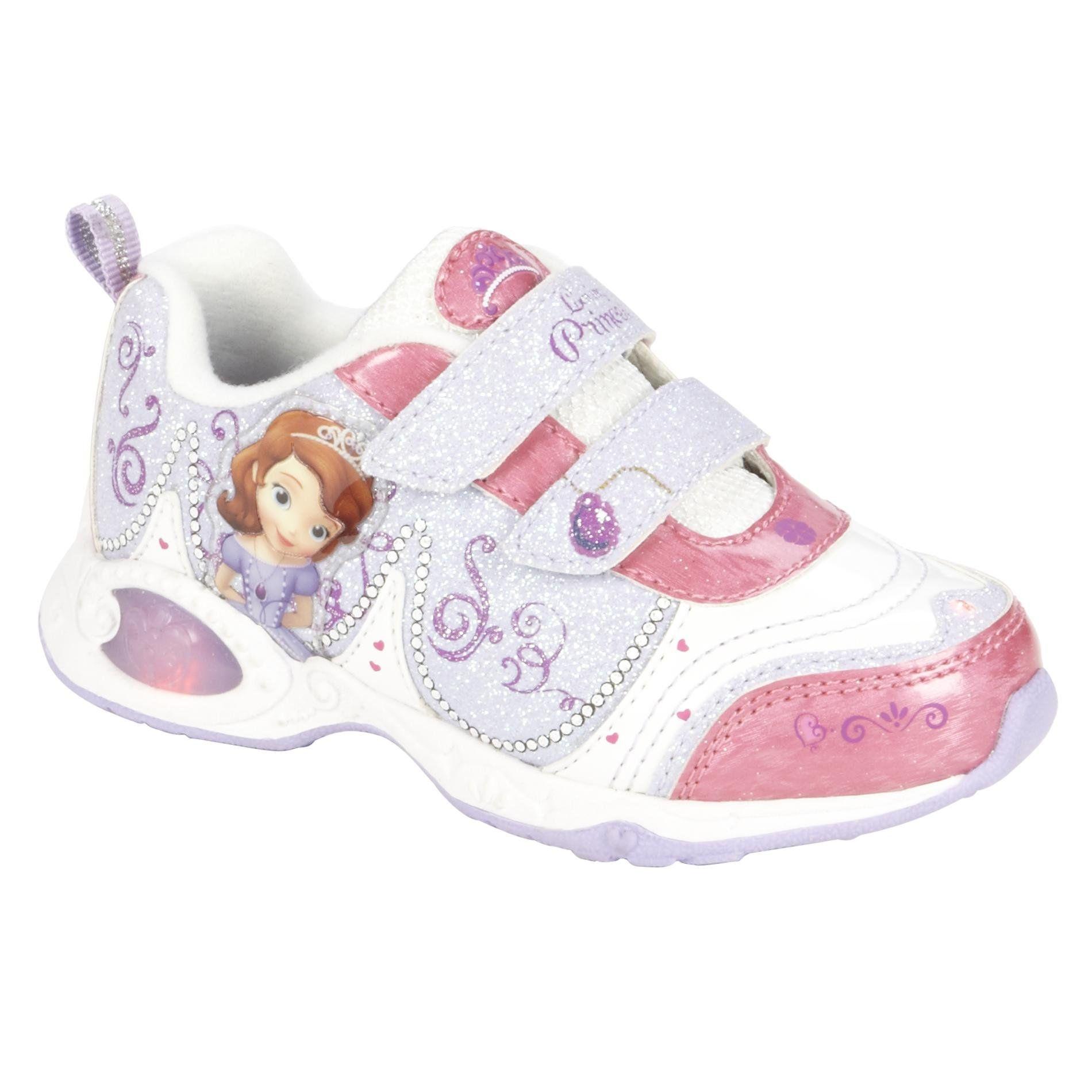 Disney Sofia the First Toddler Girl s White Sneaker