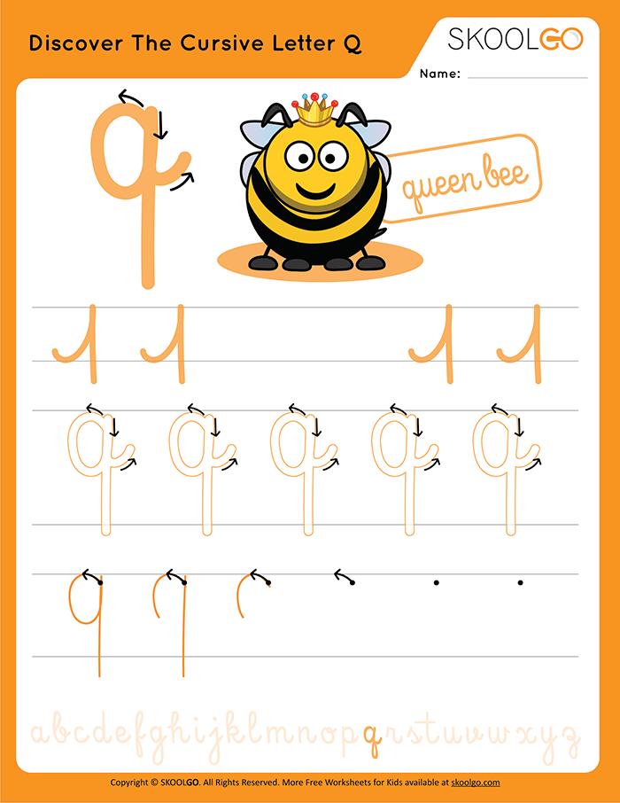 Cursive writing: Letter Q   K5 Learning