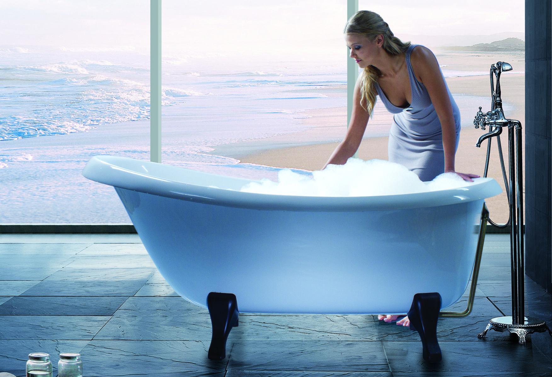Aquatica Nostalgia-Wht-Ash-Legs™ Freestanding Cast Stone Bathtub ...