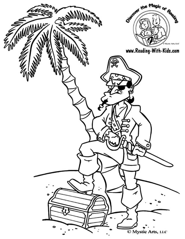 Pirate coloring page | Fantasy Coloring Pages | Pinterest