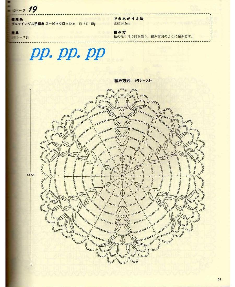 Crochet Lace № 2539 - 紫苏 - 紫苏的博客 | Cuadrados crochet ...