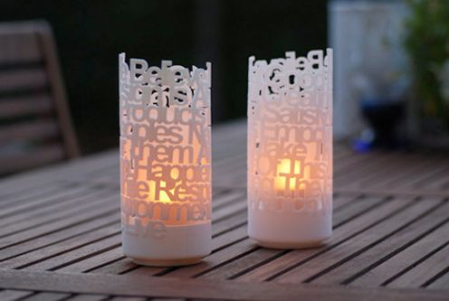 3D Printed Home Decor. Better way to light candles--3D printing style.