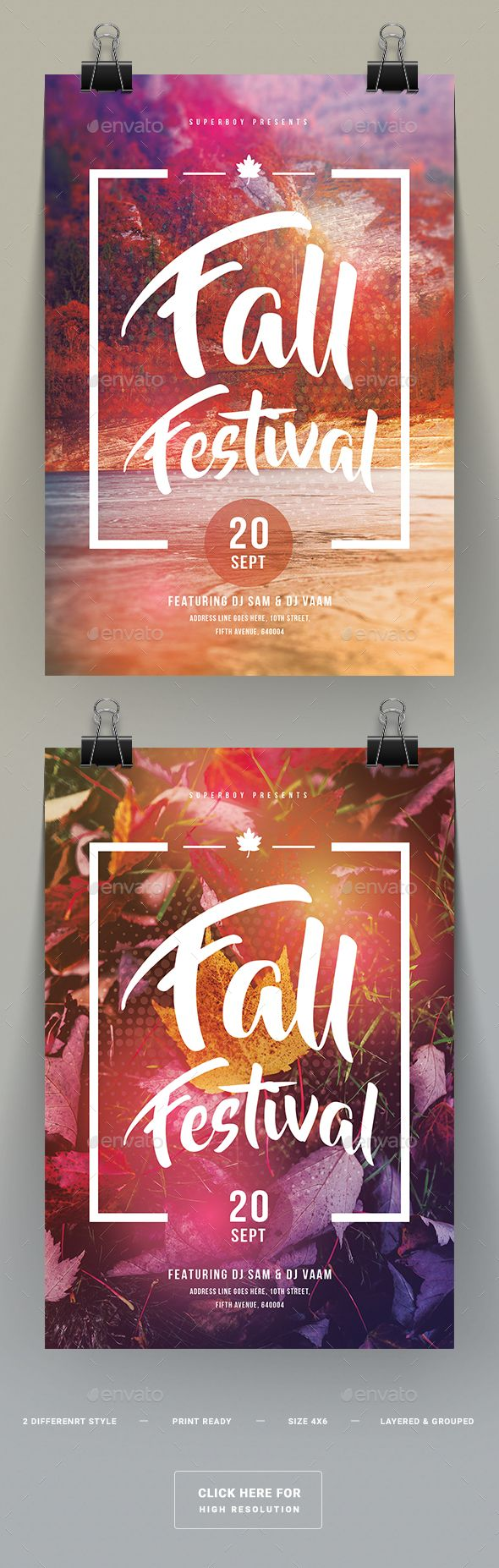 fall festival party flyer template psd church connections