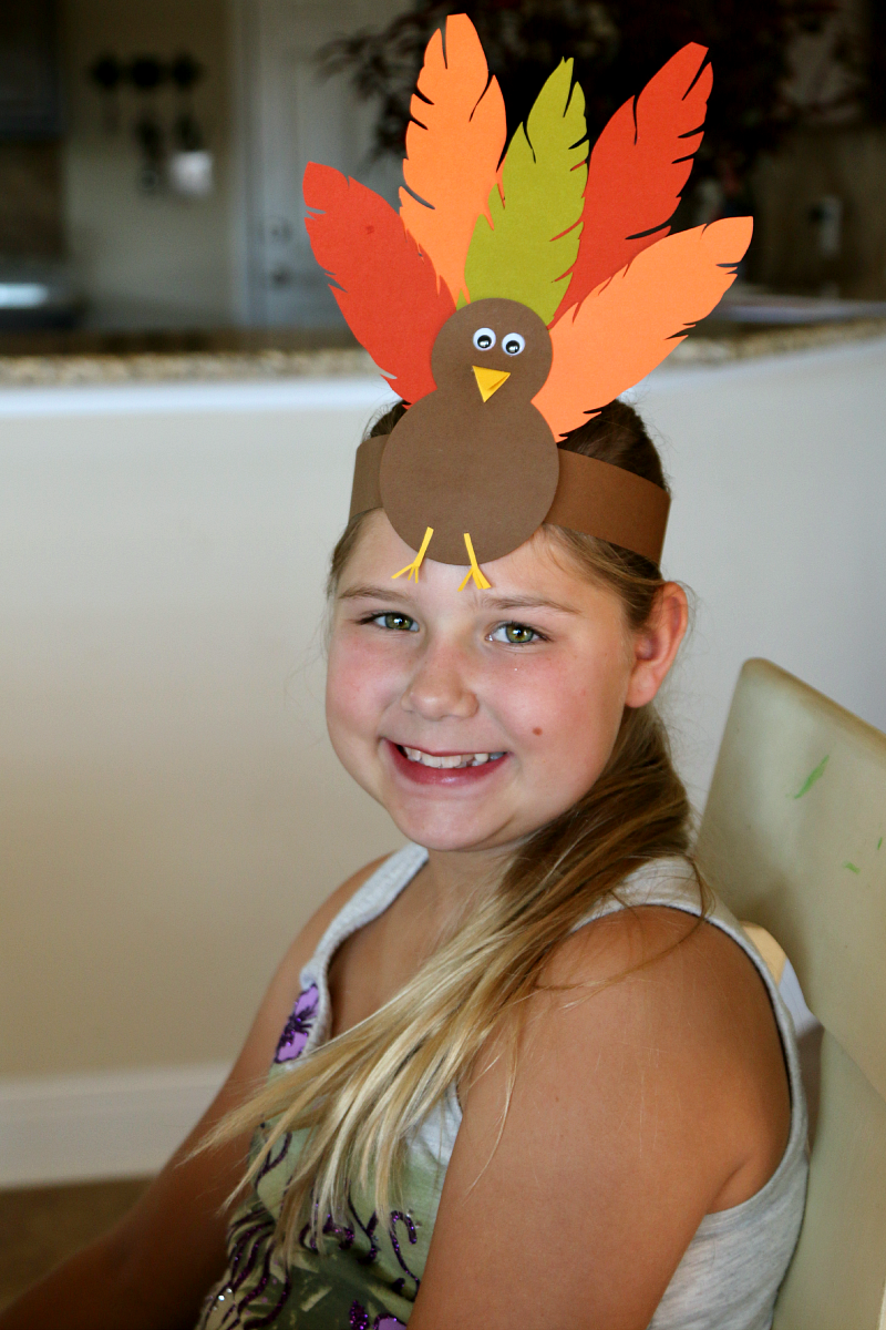 turkey hat thanksgiving headband craft for kids