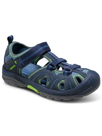 723aa3be917 Merrell Hydro Hiker Sandal Navy Green available at www.tinysoles.com ...