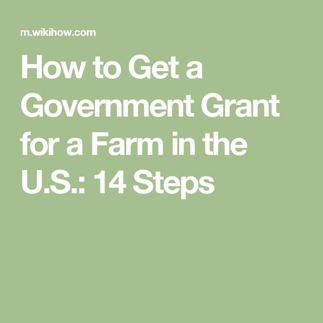 Get a Government Grant for a Farm in the U S    Farming