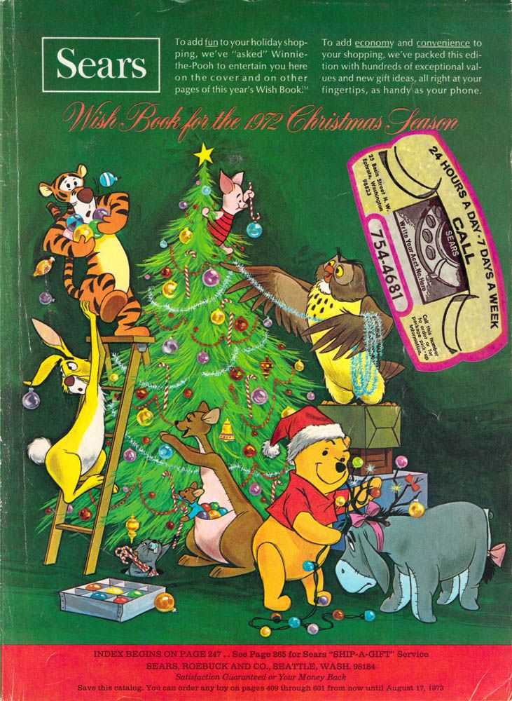 Sears Christmas Wish Book Catalog with Winnie-the-Pooh and Friends ...