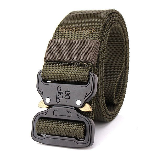 Mens Outdoor Hiking Sports Waistband Army Tactical Military Trouser Buckle Belt